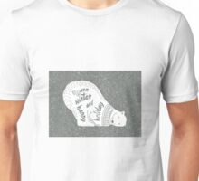 Polar bear in a winter wooly jumper- wishing you a warm winter and happy holiday Unisex T-Shirt