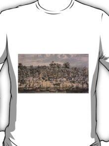 Vintage Pictorial Map of Sacramento (1850) T-Shirt
