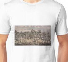 Vintage Pictorial Map of Sacramento (1850) Unisex T-Shirt