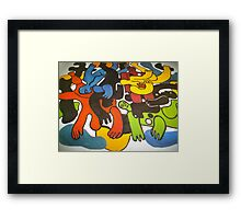 Amazing jelly figures in paint Framed Print