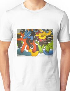 Amazing jelly figures in paint Unisex T-Shirt