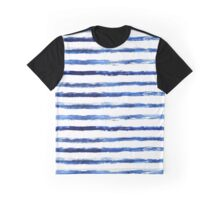 Blue grungy stripes Graphic T-Shirt