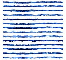 Blue grungy stripes Photographic Print