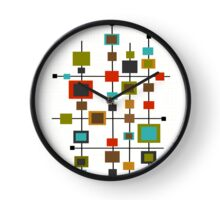 Mid-Century Abstract Squares Clock