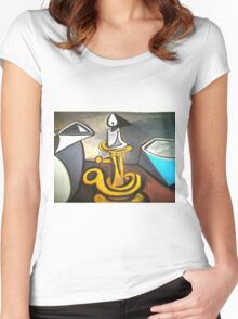 candle in the wind Women's Fitted Scoop T-Shirt