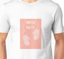 Winter party pair of mittens gloves design Unisex T-Shirt