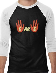 Cake (Cartoon Style) Men's Baseball ¾ T-Shirt