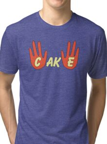 Cake (Cartoon Style) Tri-blend T-Shirt