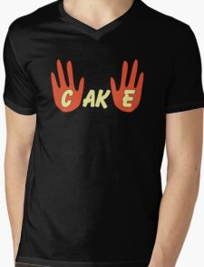 Cake (Cartoon Style) Mens V-Neck T-Shirt