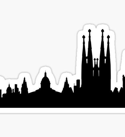 Barcelona skyline Sticker