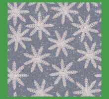 Snowflake blizzard embroidery in pink and gray design Kids Tee