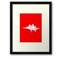 Prehistoric Origami - Stegosaurus Framed Print