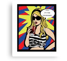 POP ART COKE GIRL Canvas Print