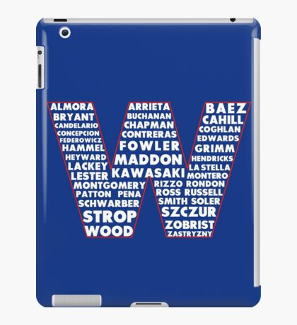 W is for Win Flag - Fun North Side Sports Roster Logo iPad Case/Skin