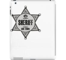 Halloween - Boo Town Sheriffs Badge  Costume iPad Case/Skin