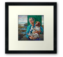 Mother and dog Framed Print