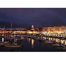 Ponta Delgada at night Photographic Print