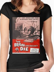 The Brain that Wouldn't Die vintage poster Women's Fitted Scoop T-Shirt