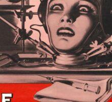 The Brain that Wouldn't Die vintage poster Sticker
