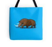 Prehistoric Pixels - Woolly Rhino  Tote Bag