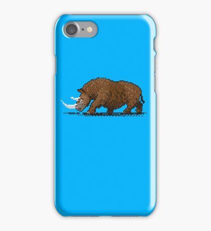 Prehistoric Pixels - Woolly Rhino  iPhone Case/Skin