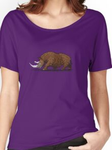 Prehistoric Pixels - Woolly Rhino  Women's Relaxed Fit T-Shirt