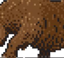 Prehistoric Pixels - Woolly Rhino  Sticker