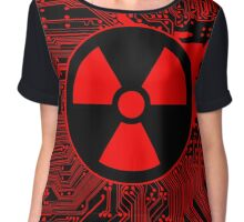 Cybergoth - Radioactive (red) Chiffon Top