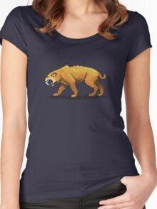 Prehistoric Pixels - Smiledon  Women's Fitted Scoop T-Shirt