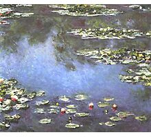 Claude Monet - Water Lilies Mini Skirt Print Clock Photographic Print