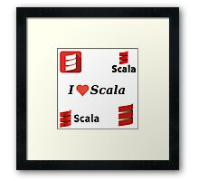 scala programming language sticker set Framed Print