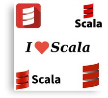 scala programming language sticker set Canvas Print
