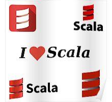 scala programming language sticker set Poster