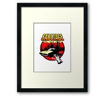Sabotage T Shirt 2.  Framed Print