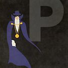 The Phantom Stranger - Superhero Minimalist Alphabet Print Art by justicedefender