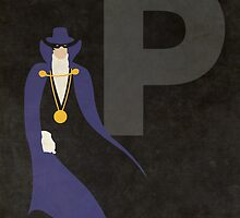 The Phantom Stranger - Superhero Minimalist Alphabet Print Art by justicedefender