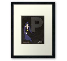 The Phantom Stranger - Superhero Minimalist Alphabet Print Art Framed Print