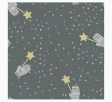 Mittens and stars winter design One Piece - Short Sleeve