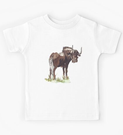 Black Wildebeest (Connochaetes gnou) Kids Tee