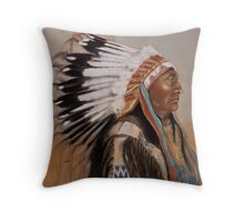 Brule-Sioux Chief Throw Pillow