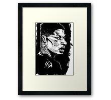 Marcus Rashford Inked Framed Print