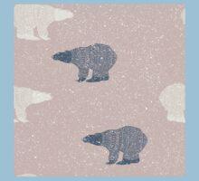 Polar bear winter design Kids Tee