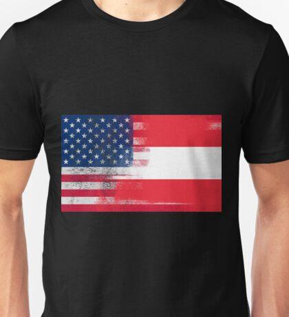 Austrian American Half Austria Half America Flag Unisex T-Shirt