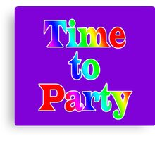 Time To Party - Wall Clock Canvas Print