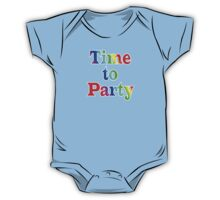 Time To Party - Wall Clock One Piece - Short Sleeve