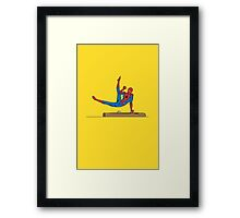 Acrobatic Superhero Framed Print