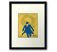The Question - Superhero Minimalist Alphabet Print Art Framed Print