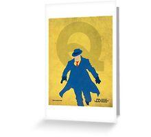 The Question - Superhero Minimalist Alphabet Print Art Greeting Card