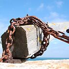 Old chains Portland Quarries by Margaret Brown