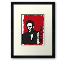 Quentin Tarantino (red edition) Framed Print